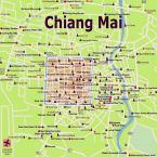 Karte Chiang Mai Map (Stadtplan Chiangmai)