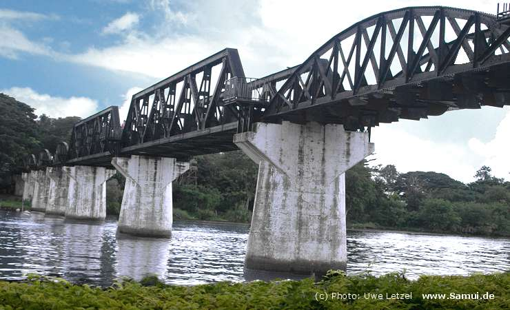 Foto: Br�cke am River Kwai in Kanchanaburi Thailand (River Kwai Bridge)