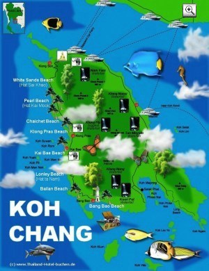 Koh Chang Karte/Map