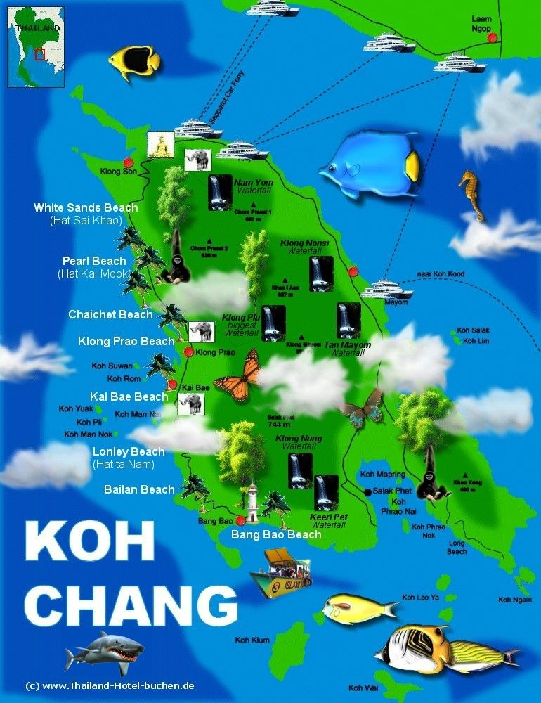 Koh Chang Thailand  city pictures gallery : Koh Chang Thailand Map Picture Pictures to pin on Pinterest