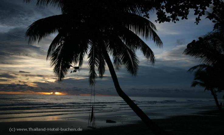 "Foto: Sonnenuntergang am ""White Sand Beach"" in Koh Chang (Thailand)"