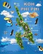 Karte Koh Phi-Phi Map