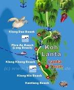 Karte Koh Lanta Map