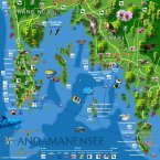 Map Krabi, Phuket, PhiPhi, Songkhla und Hat-Yai (South-Thailand)